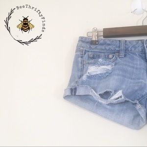 ✨ 3 for $30 AEO Distressed Cuffed Shorts